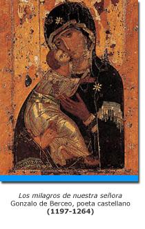 Ícono medieval de la virgen