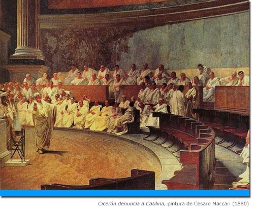 Cicerón denuncia a Catilina